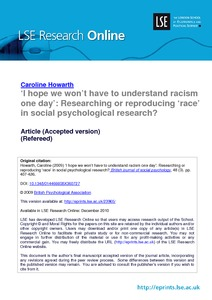 social psychology research articles