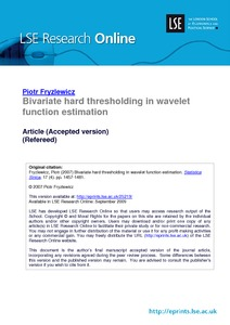 Bivariate hard thresholding in wavelet function estimation - LSE ...