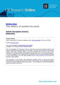 Social Welfare (6 Major Criteria)