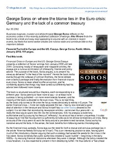 book review george soros on where the blame lies in the euro crisis germany and the lack of a. Black Bedroom Furniture Sets. Home Design Ideas