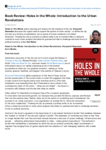 holes book review Free summary and analysis of chapter 1 in louis sachar's holes that won't make you snore we promise.