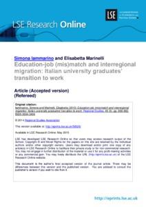 Education-job (mis)match and interregional migration:Italian