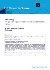 Acquisitive prescription and fundamental rights lse research online - Prescription acquisitive terrain ...