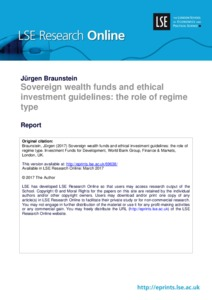 Sovereign wealth funds and ethical investment guidelines:the