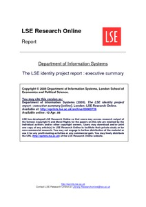 the lse identity project report executive summary lse research