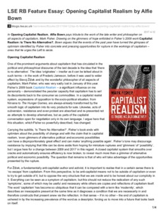 Lse Rb Feature Essay Opening Capitalist Realism By Alfie Bown  Lse  Lse Rb Feature Essay Opening Capitalist Realism By Alfie Bown Freelance Writing Services also Essay Sample For High School  Cover Letter Writing Services Toronto