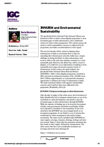 JNNURM and environmental sustainability - LSE Research Online