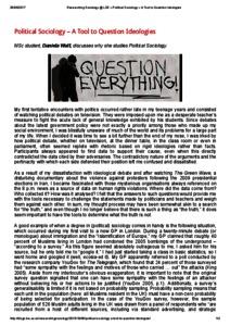 emergence of political sociology