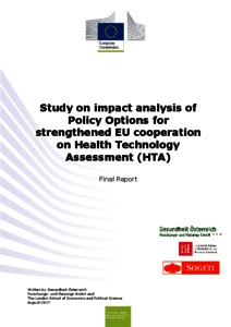 Study on impact analysis of policy options for strengthened