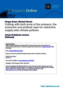 Cutting with both arms of the scissors: the economic and